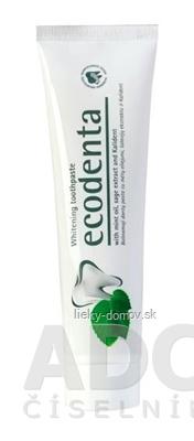 Ecodenta Whitening zubná pasta bieliaca (s mätovým olejom, šalviou a Kalidentom) 1x100 ml