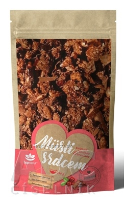 topnatur Müsli srdcom Belgická čokoláda & brusnice 1x350 g