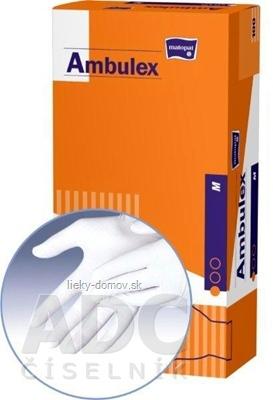 Ambulex rukavice LATEXOVÉ veľ. M, nesterilné, pudrované 1x100 ks