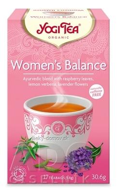 YOGI TEA Ženská rovnováha BIO ajurvédska čajová zmes, nálevové vrecúška 17x1,8 g (30,6 g)