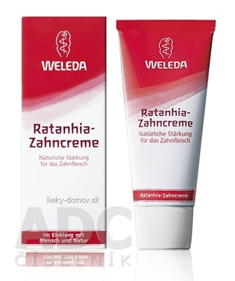 WELEDA Rataňová zubná pasta (Ratanhia-Zahncreme) 1x75 ml