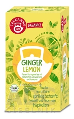 TEEKANNE ORGANICS BIO GINGER LEMON bylinný čaj 20x1,8 g (36 g)