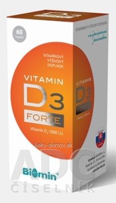 BIOMIN VITAMIN D3 FORTE 1000 I.U. cps 1x60 ks