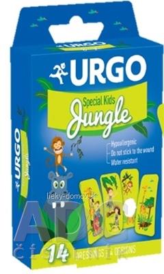 URGO Special Kids JUNGLE detské náplasti, 4 motívy, 1x14 ks