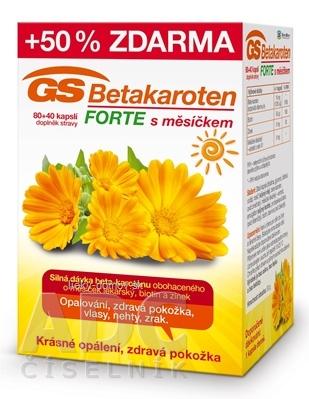 GS Betakarotén FORTE s nechtíkom cps 80+40 50% zadarmo (120 ks)