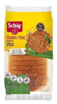 Schär MAESTRO VITAL chlieb bezgluténový, kysnutý, viaczrnný, krájaný, 1x350 g