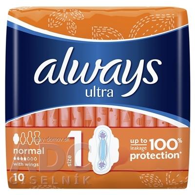 ALWAYS ULTRA NORMAL PLUS 10 hygienické vložky 1x10 ks