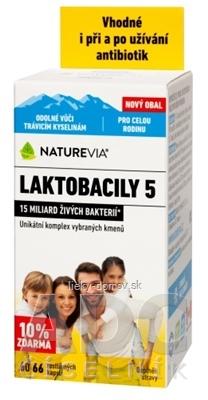 SWISS NATUREVIA LAKTOBACILY 5 cps (10% zdarma) 1x66 ks