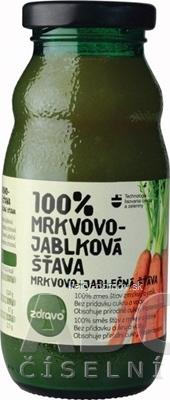 zdravo 100% MRKVOVO-JABLKOVÁ ŠŤAVA 1x200 ml