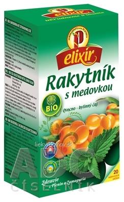 AGROKARPATY BIO Rakytník s medovkou ovocno - bylinný čaj, balené vrecúška, 20x1,5 g (30 g)
