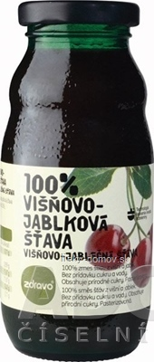 zdravo 100% VIŠNOVO-JABLKOVÁ ŠŤAVA 1x200 ml
