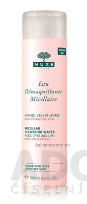NUXE Eau Démaquillante Micellaire Odličovacia micelárna voda s výťažkami ruže 1x200 ml
