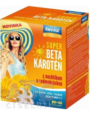 Revital PREMIUM SUPER BETA-KAROTÉN tbl (s nechtíkom a sedmokráskou) 80+40 zdarma (120 ks)