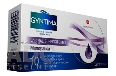 Fytofontana GYNTIMA Vaginálne čapíky Menopausa 1x10 ks