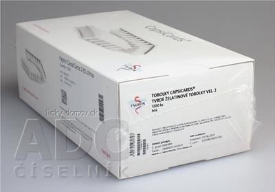 CapsiCards žel. kapsule vel´. 2 - FAGRON biele 1200 ks kartón 24x50 ks (1 bal.)