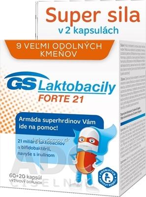GS Laktobacily FORTE 21 (2017) cps 60+20 (80 ks)