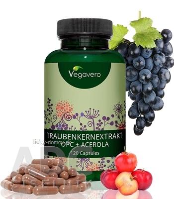 Vegavero Extrakt z hroznových jadier OPC + Acerola cps 1x120 ks