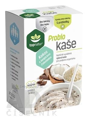 topnatur Probio KAŠA Kokos s belgickou čokoládou ryžová kaša 3x60 g (180 g)