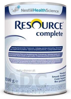 RESOURCE Complete Neutral plv (bez príchuti) 1x1300 g