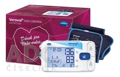 Veroval DUO CONTROL darčekové balenie tlakomer digitálny ramenný s manžetami M (22-32 cm) a L (32-42 cm) + sieťový adaptér, 1x1 set