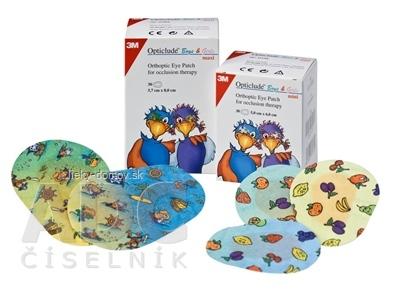 3M Opticlude Boys&Girls Maxi očná náplasť 5,7x8 cm, detský motív, ortoptická, na liečbu strabizmu 1x30 ks