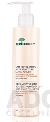 NUXE BODY Hydratačné telové mlieko s kvetmi z mandle a pomaranča, 1x200 ml