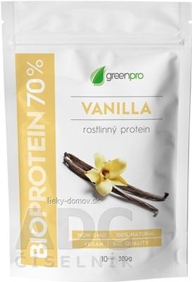 BIOPROTEIN 70% GreenPro VANILLA prášok na prípravu nápoja 1x300 g