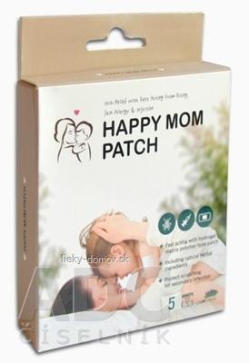 HAPPY MOM PATCH hydrogélová náplasť po injekciách a uštipnutí hmyzom, 5 x 5 cm, 1x5 ks