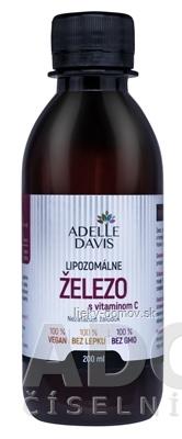 ADELLE DAVIS Lipozomálne ŽELEZO s vitamínom C 1x200 ml