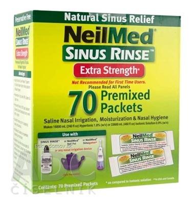 NeilMed SINUS RINSE Extra Strength Hypertonic vrecúška (morská soľ), na hygienu nosa, 1x70 ks