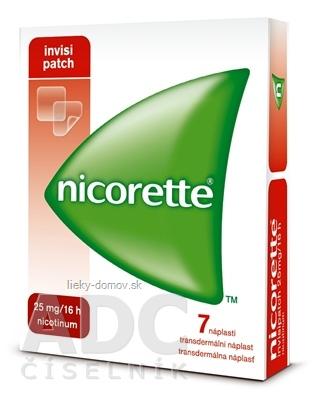 Nicorette invisipatch 25 mg/16 h transder. náplasť emp tdm (vrecko papier/PET/Al-PAN) 1x7 ks