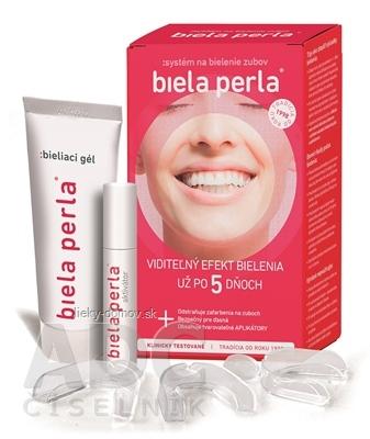 Biela perla Systém na bielenie zubov (aplikátory, aktivátor 8ml, bieliaci gél 75 ml ) 1x1 set