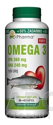 BIO Pharma Omega 3 Forte 1200 mg cps 90+45 (50% ZADARMO) (135 ks)