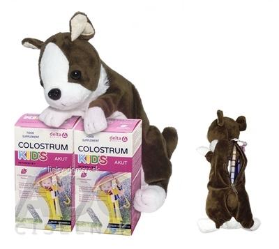 DELTA COLOSTRUM sirup JAHODA KIDS DUO + darček 2x125 ml + plyšový psík, 1x1 set