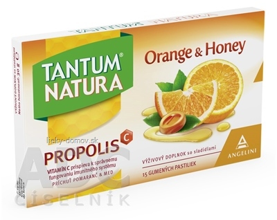 TANTUM NATURA - ORANGE & HONEY gumené pastilky 1x15 ks