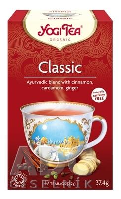 YOGI TEA Classic BIO ajurvédska čajová zmes, nálevové vrecúška 17x2,2 g (37,4 g)