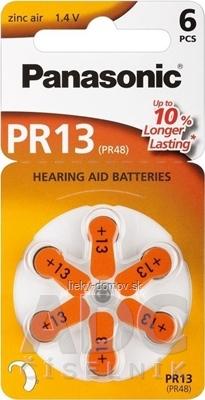 Panasonic PR13 batérie (PR48) do načúvacích prístrojov 1x6 ks
