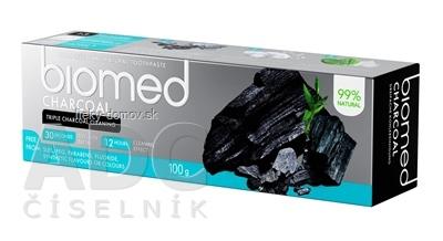 biomed CHARCOAL zubná pasta s prírodným uhlím 1x100 g