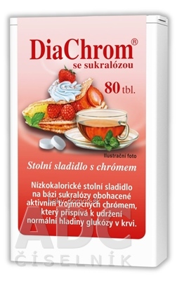 DiaChrom so sukralózou tbl 1x80 ks