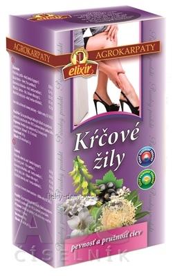 AGROKARPATY KŔČOVÉ ŽILY bylinný čaj, čistý prírodný produkt, 20x2 g (40 g)