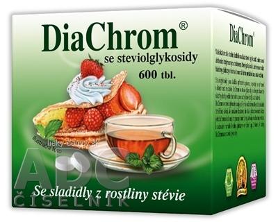 DiaChrom s glykozidmi steviolu tbl 1x600 ks