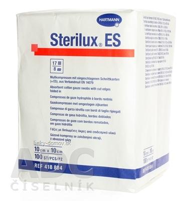STERILUX ES NEST. kompres nesterilný, so založenými okrajmi 17 vlákien 8 vrstiev (10cmx10cm) 1x100 ks