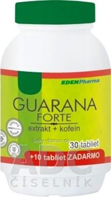 EDENPharma GUARANA forte tbl 30+10 zadarmo (40 ks)