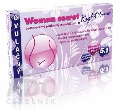 Woman secret RIGHT TIME ovulačný test prúžkový 5v1 (5 prúžkov) 1x5 ks