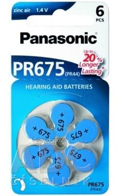 Panasonic PR675 batérie (PR44) do načúvacích prístrojov 1x6 ks