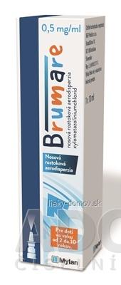 Brumare 0,5 mg/ml nosová roztoková aerodisperzia aer nao 5 mg (fľ.HDPE) 1x10 ml