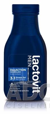 Lactovit MEN DeoACTION 3v1 Sprchový gél osviežujúci 1x300 ml