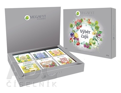 MEGAFYT kazeta Výber čajov 6 druhov po 5 vrecúšok, 1x62,5 g