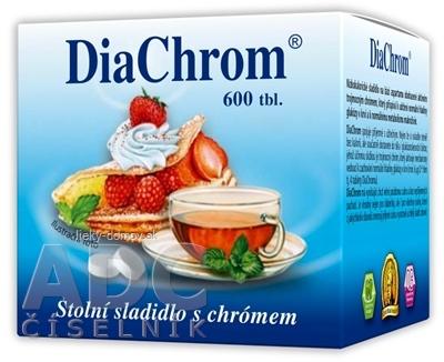 DiaChrom nízkokalorické sladidlo tbl 1x600 ks