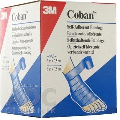 3M Coban 1583/B kompresný obväz 7,5 cm x 3 m, modrý, 1x1 ks